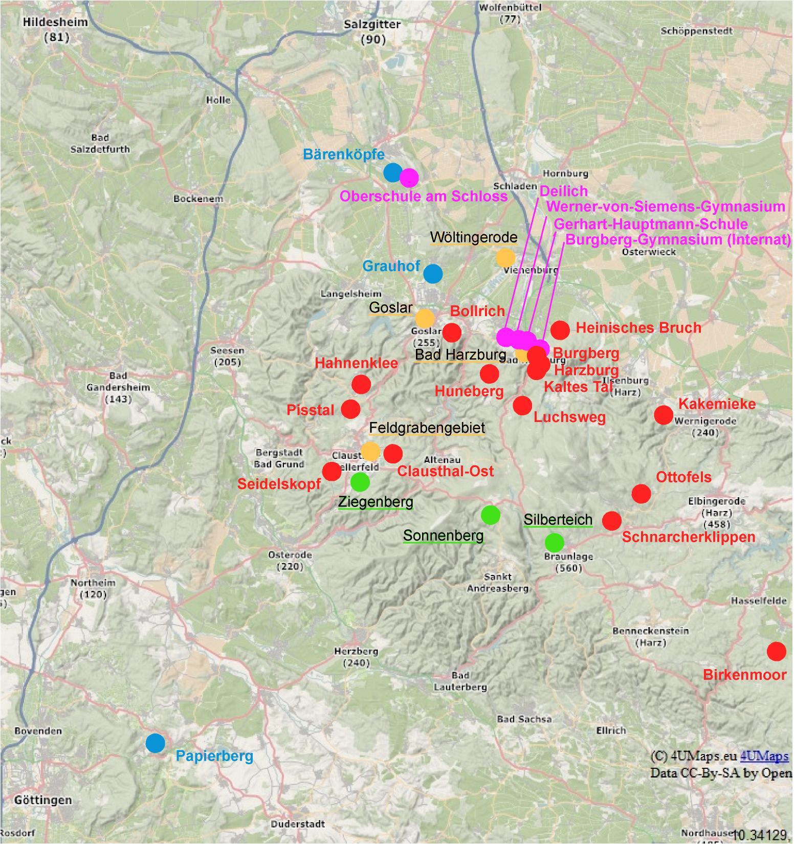Ddr Grenze Karte Harz.Kartenverzeichnis Mtk Bad Harzburg